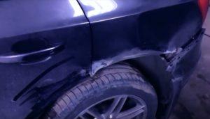 Удаление вмятины Audi q5